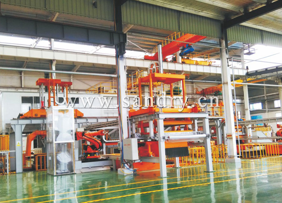 Full automatic V process casting molding line