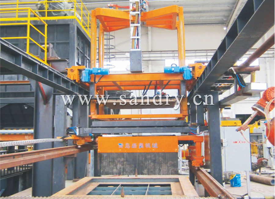 Automatic film covering machine