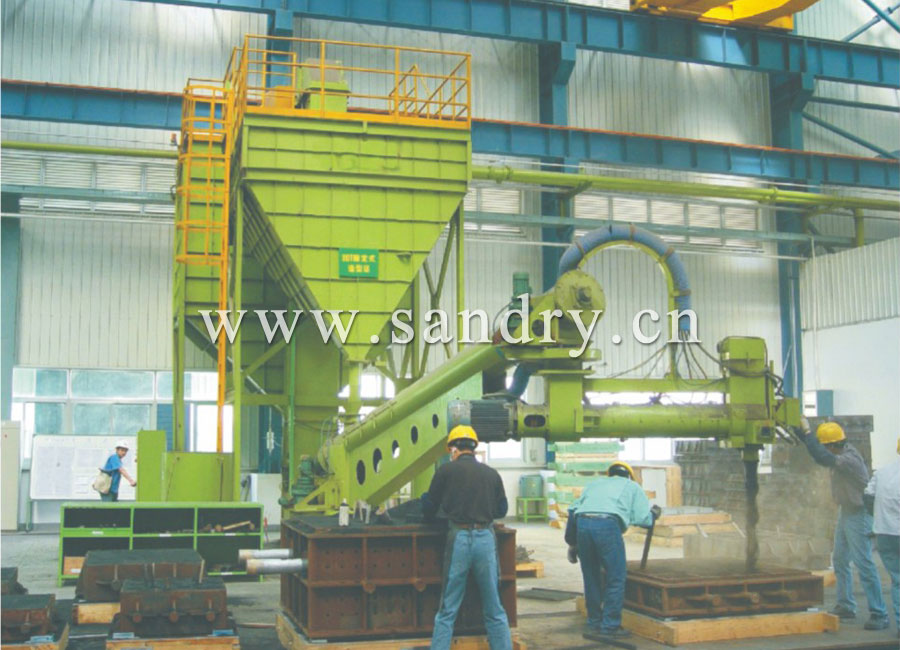 Continuous type resin sand mixer