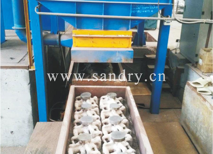 Precision cast/resin coated cast shell mold sand preparation system